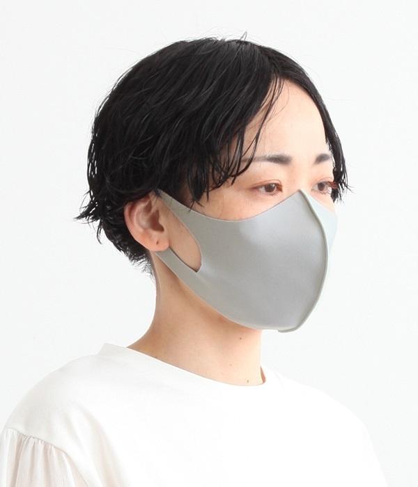 接触冷感 3D立体型 洗える抗菌マスク(A・グレー)