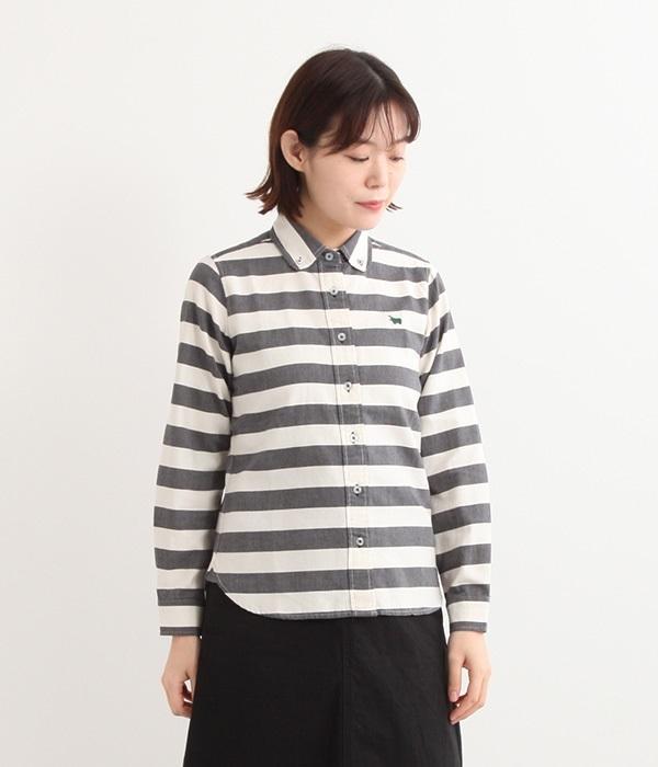 ワイドボーダーシャツ(A・ブラック)