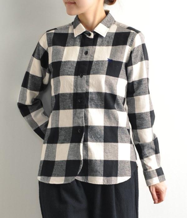 バッファローチェックネルシャツ(A・ホワイト)
