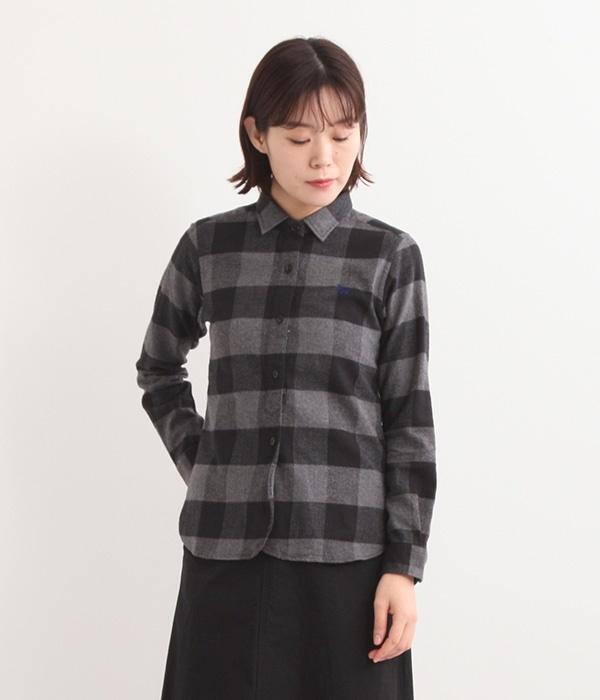 バッファローチェックネルシャツ(B・グレー)