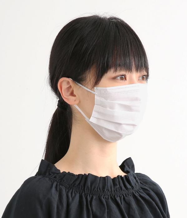 接触冷感 不織布マスク・50枚入り(ホワイト)