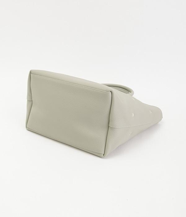 牛革ドット刺繍トートバッグ(E・オリーブ)