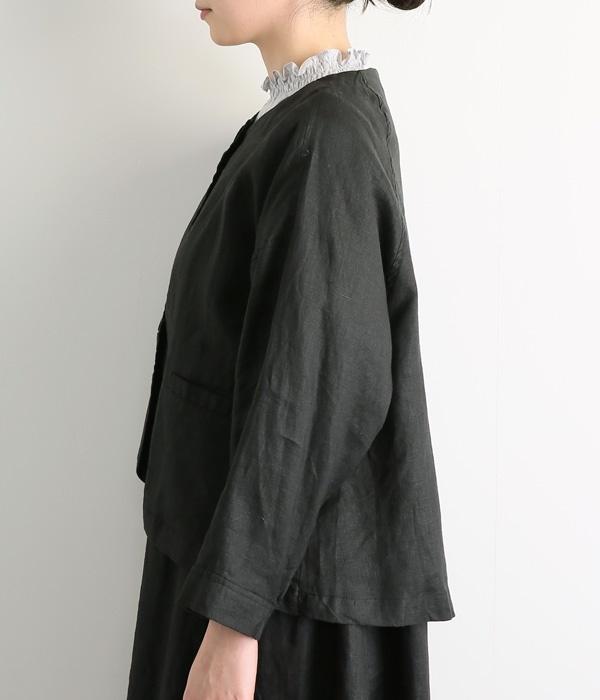 リネンオックスジャケット(C・ブラック)