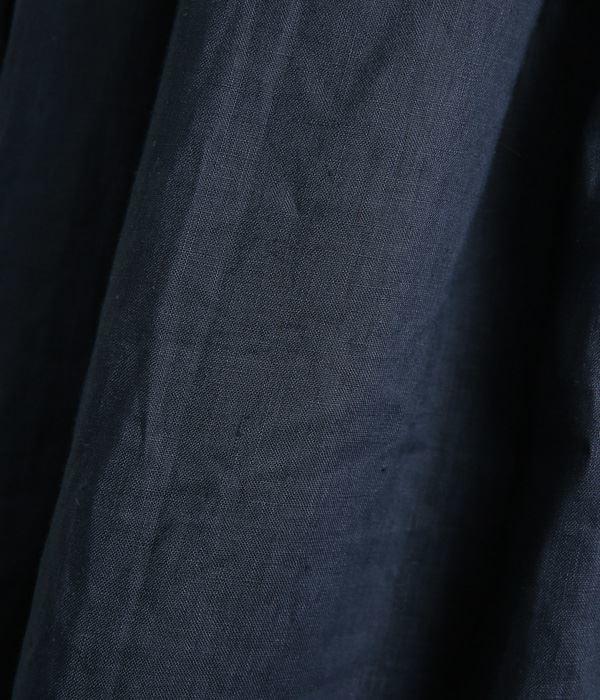 リネンオックスタックスカート(A・ネイビー)