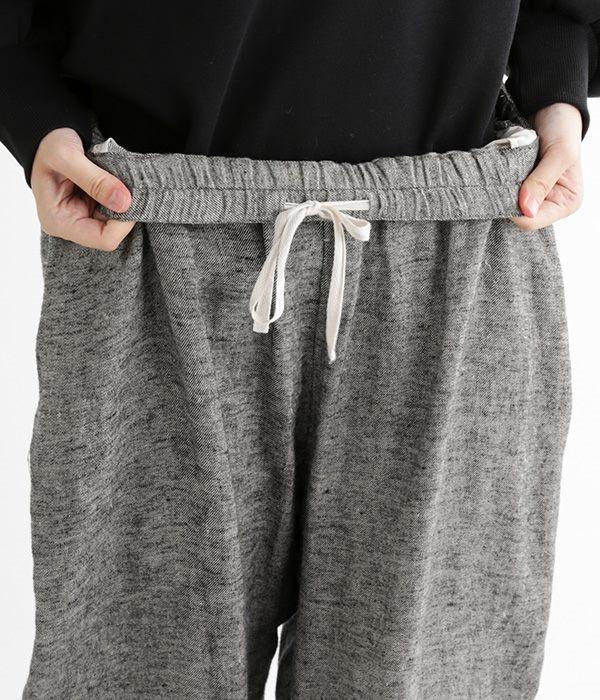 リネン起毛テーパードパンツ(D・グレー)