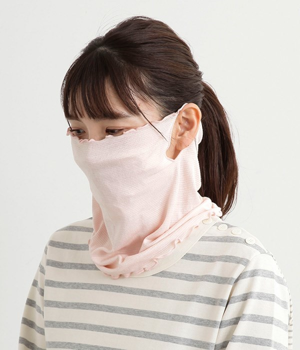シルクフェイスマスク(B・桜色)