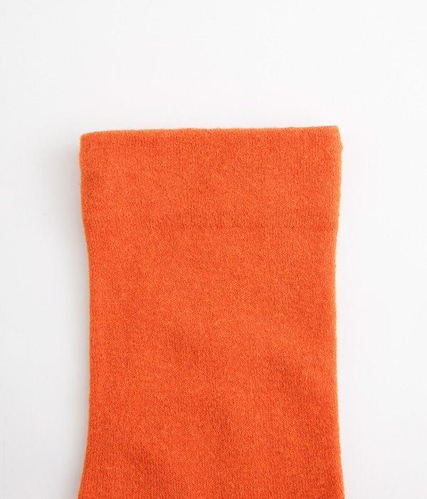 くちゴムなしコットンバイカラーソックス(G・オレンジ)