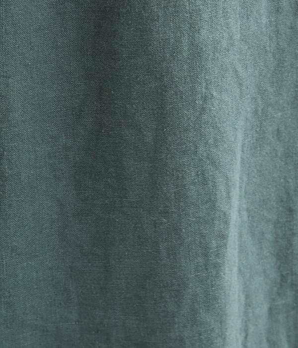 リネンキャンバス ピエロパンツ(F・ダークグリーン)