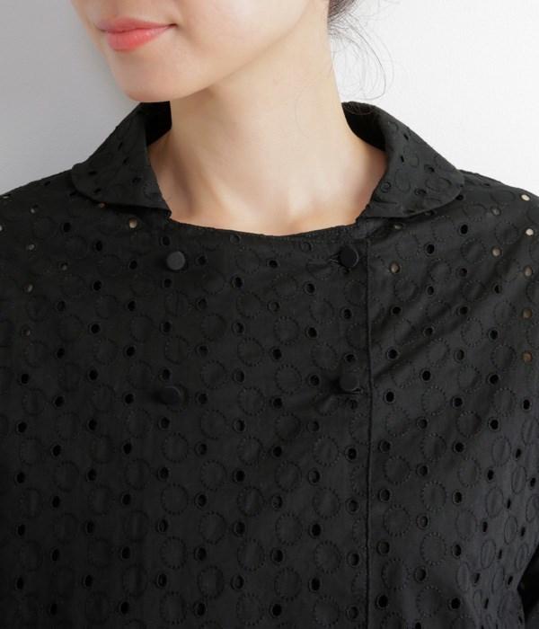 サークル刺繍ジャケット(B・ブラック)