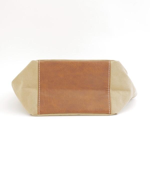 洗い帆布×合皮 クリテトート(A・ネイビー)