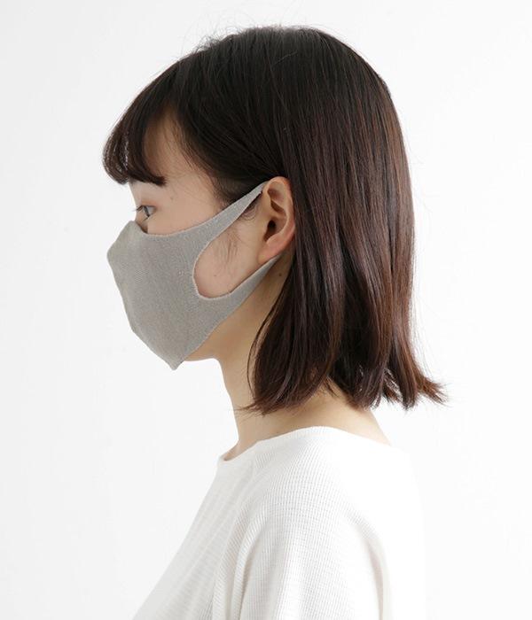肌面シルク無縫製マスク ライト(B・ライトグレー)