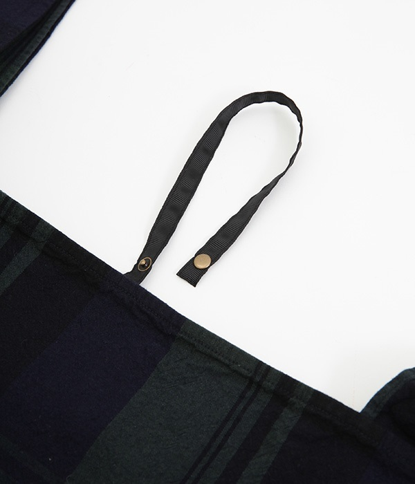 オリジナルチェック 折りたたみマルシェバッグ(大)(A・グレンチェック)