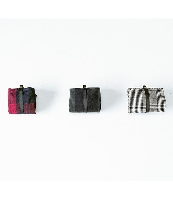 オリジナルチェック 折りたたみマルシェバッグ(大)(C・ネイビー)