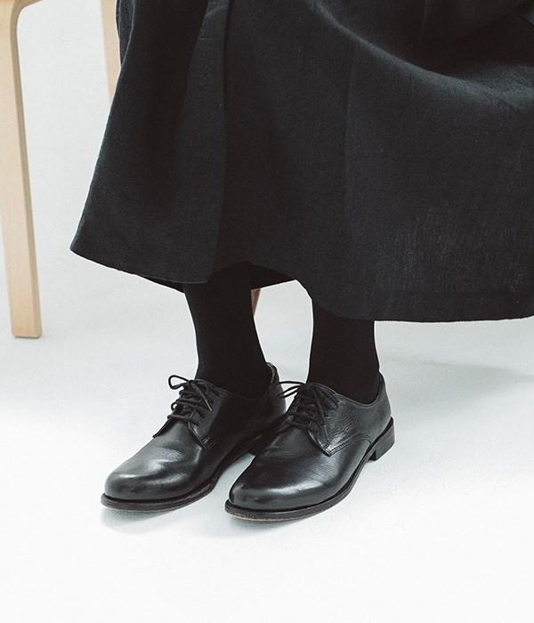 プレーントゥシューズ(D・ブラック)