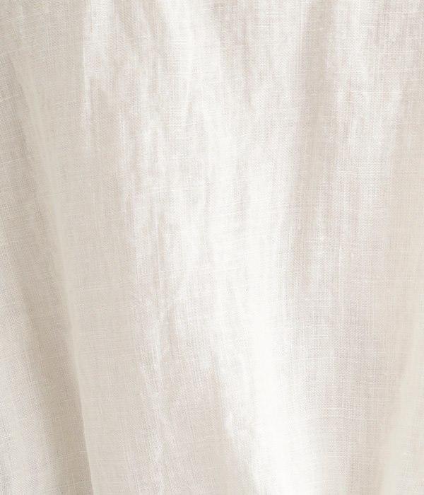 リネン 前裾ゴムブラウス(A・オフホワイト)