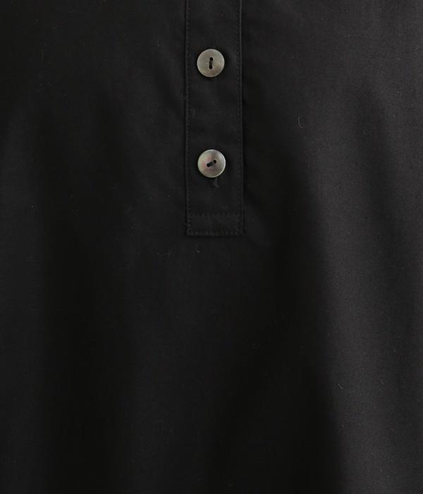 ヘンリー5分袖ワンピース(ブラック)