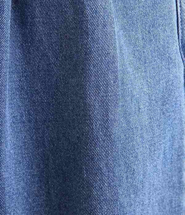 デニムボリュームテーパードパンツ(B・ライトブルー)
