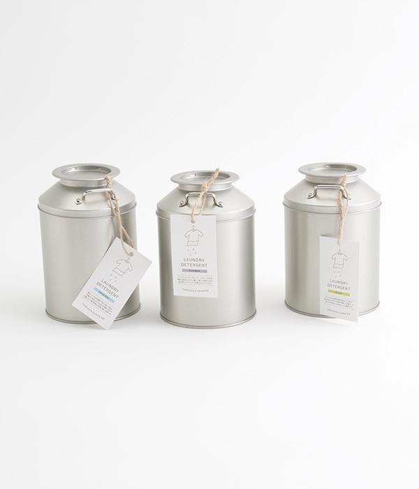 衣料用洗濯洗剤・フラワー 新ミルク缶入り(ステンレス計量スプーン付)(フラワー)
