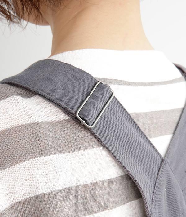 前ポケット オーバーオール(B・チャコールツイル)