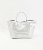 牛革ドット刺繍トートバッグ(C・シルバー)