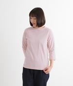 ムラ糸ラグラン7分袖Tシャツ(K・ピンク)