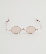 栞 しおりのように薄いサングラス(B・シルバーゴールド/ライトブラウンオール)